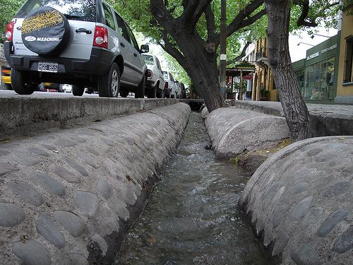 Small Irrigation Canals in Mendoza City