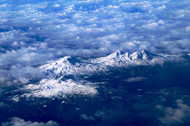 Aerial View of Three Sisters