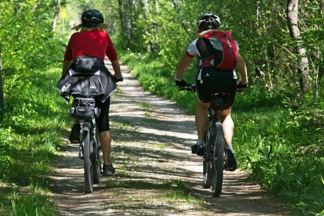 Biking in Paint Creek State Park