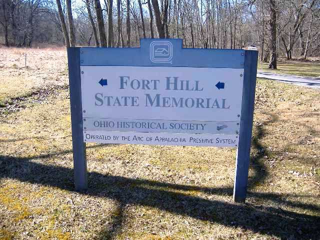 Fort Hill State Memorial Entrance Sign