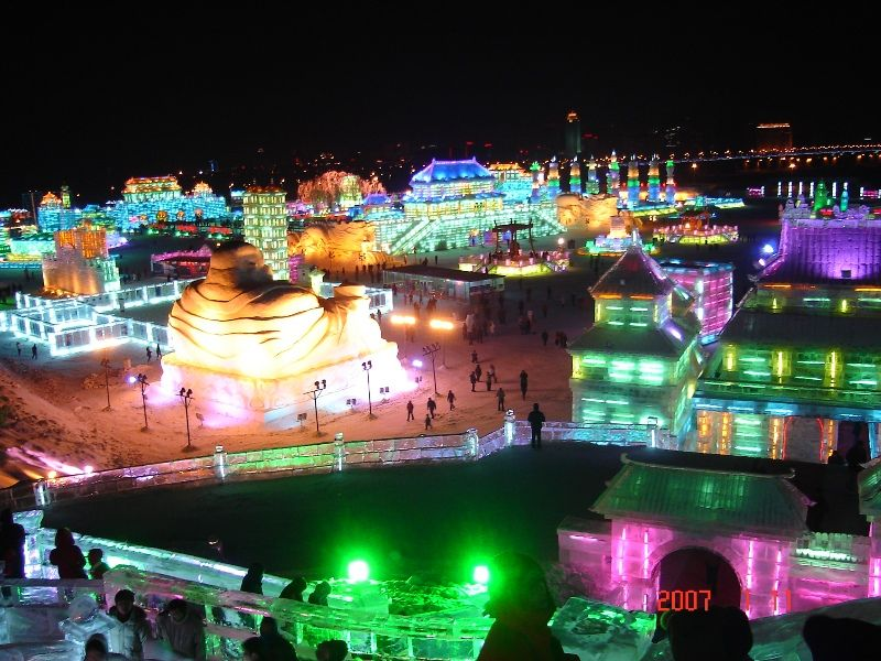 Harbin Ice Lantern Park Fair