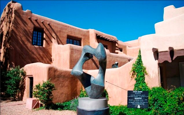 Migration Sculpture at New Mexico Museum of Art, Santa Fe