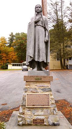 Statue of Mery Jemison in Letchworth State Park