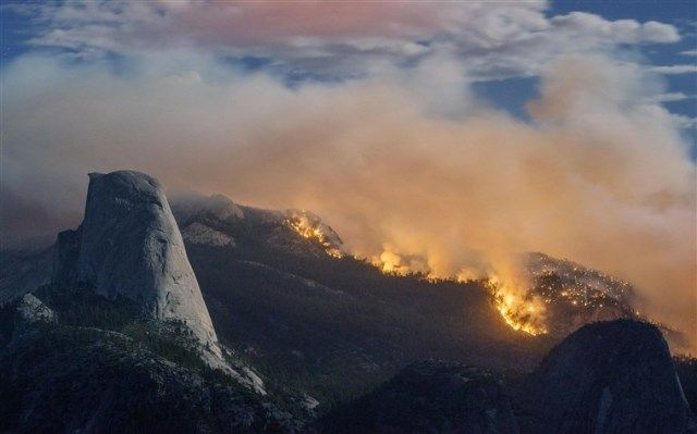 Wildfire in Yosemite Park