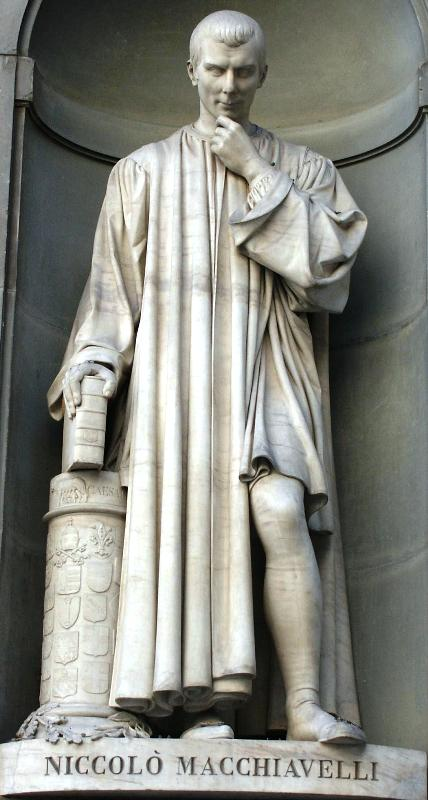 A Statue of Niccolò Machiavelli