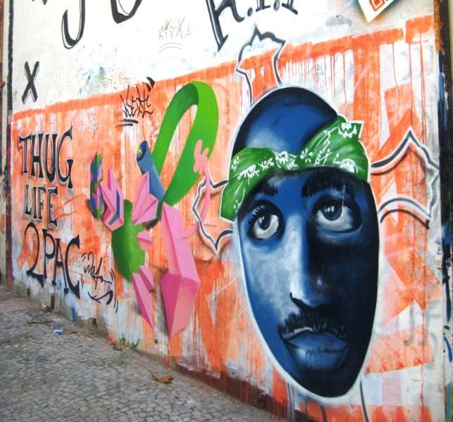 Tupac Graffiti Rio de Janeiro