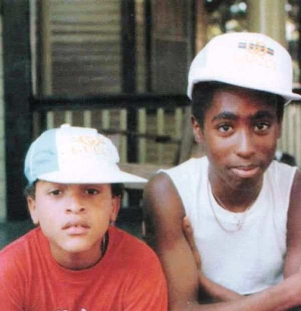 Young Tupac Shakur (Right) With One Of His Friends