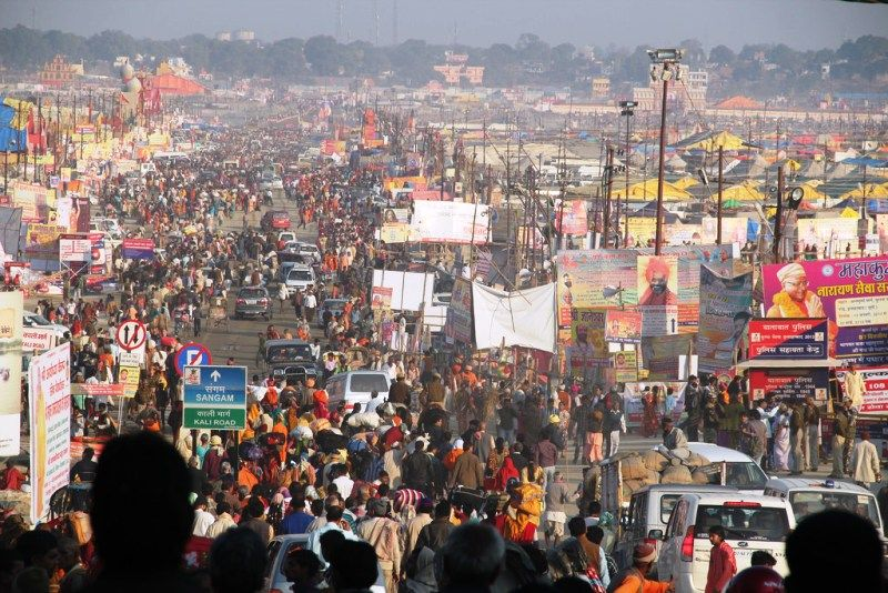 A Corner Of Public Gathering At The Kumbh Mela