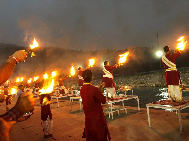 Aarti Procession At The Kumbh Mela
