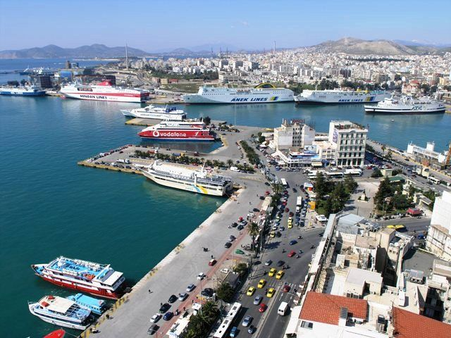 Aerial view of the Port of Piraeus