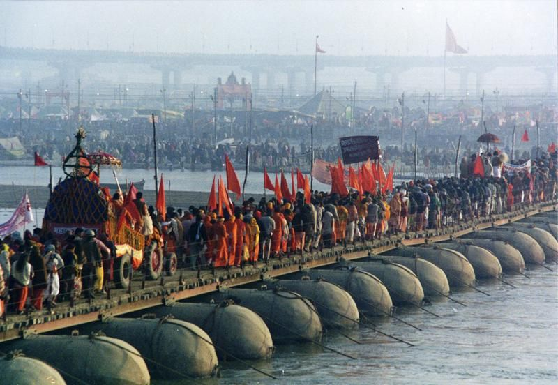 Arrival Of Akharas At Kumbh Mela