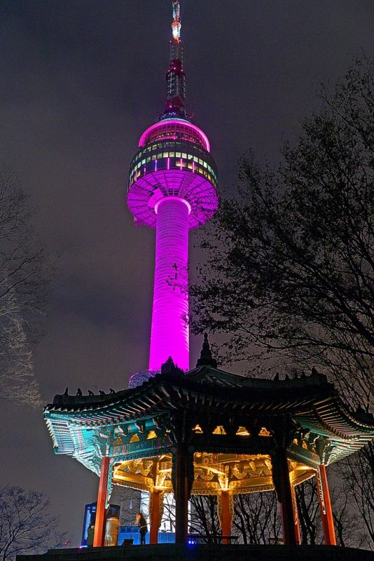 Colorful Namsan Tower