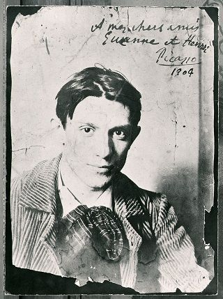 Early photo of Pablo Picasso