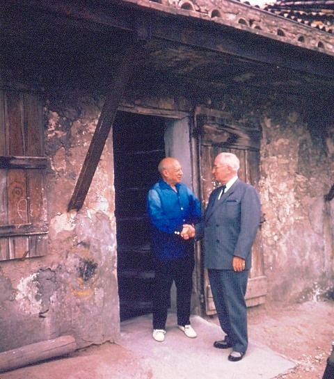 Former United States President, Harry S Truman met Picasso in France during his European Tour