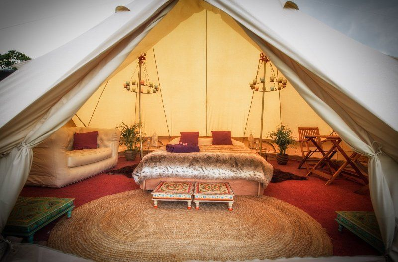 Glamping at glasto