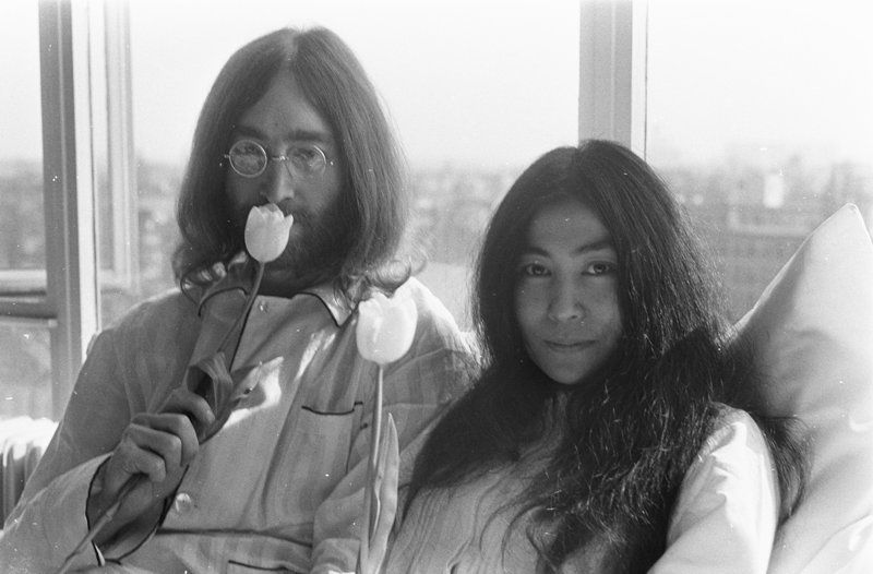 John Lennon and his wife