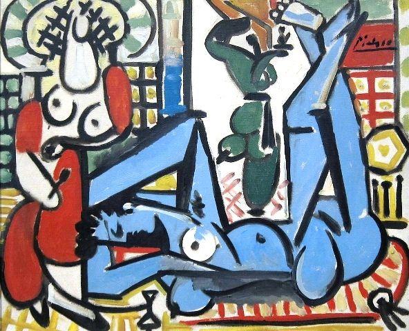 Picasso's Les femmes d'Alger (Women of Algiers), 1955