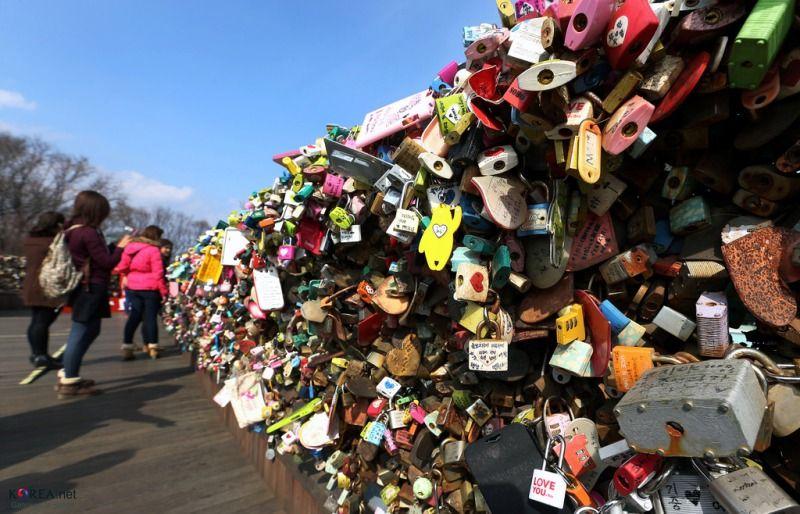 Padlocks of Love in N Seoul Tower