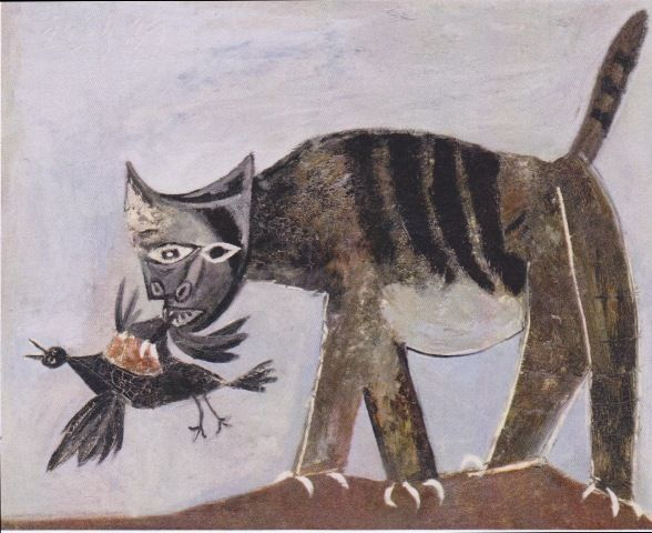 Painting of Cat, made by Picasso