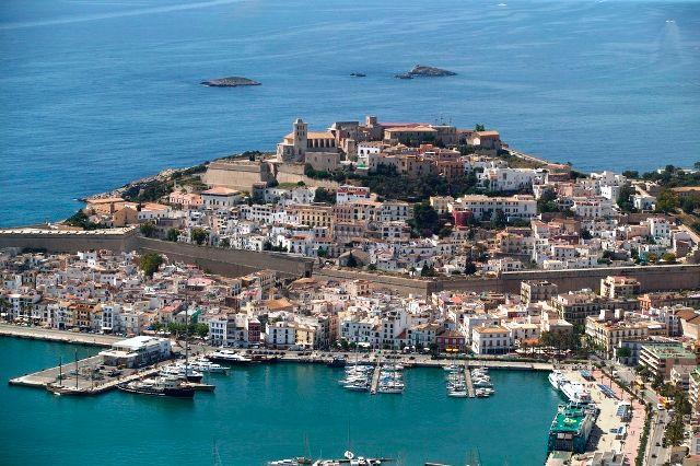 Panoramic View of Dalt Vila, Ibiza