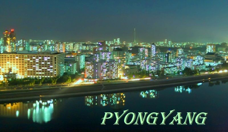 Pyongyang Skyline in the night