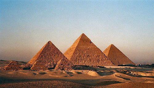 Pyramids of Giza are made up of limestones