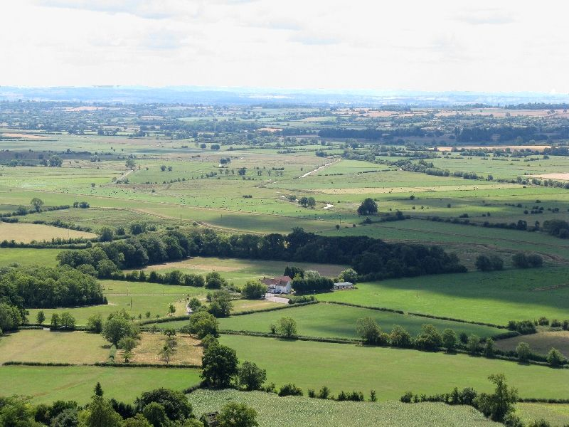 Somerset Levels From Glastonbury