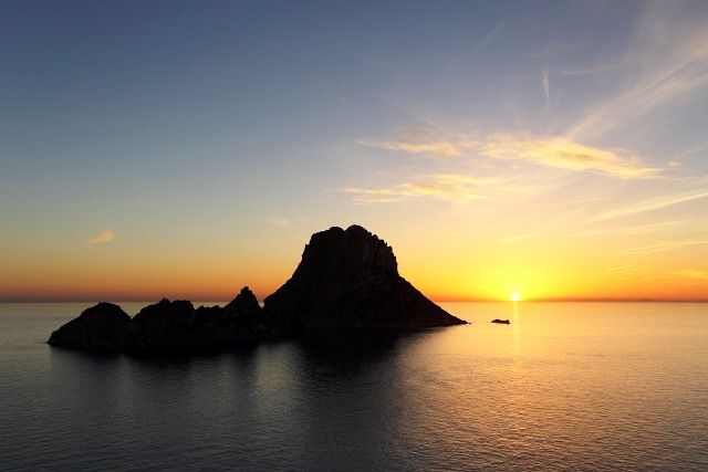Sunset scene from Es Vedra