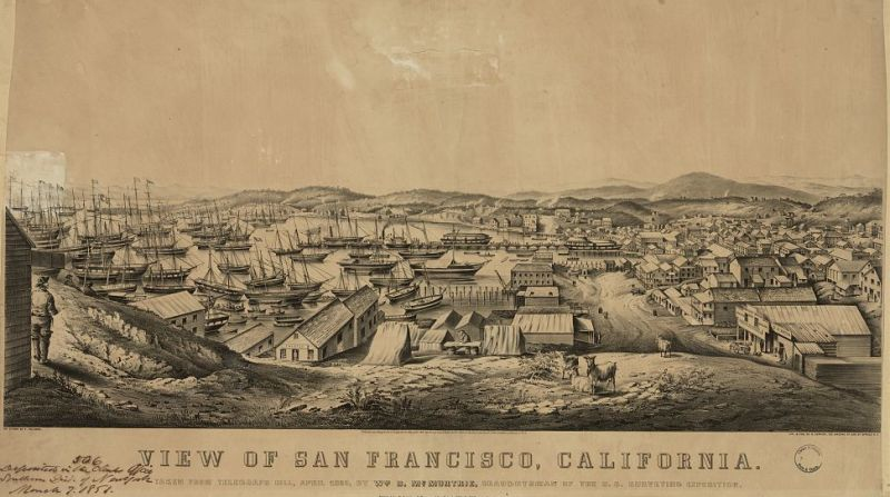 View of San Francisco, California- Taken From Telegraph Hill, April 1850