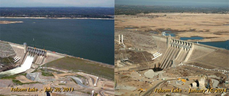 Folsom Lake In California
