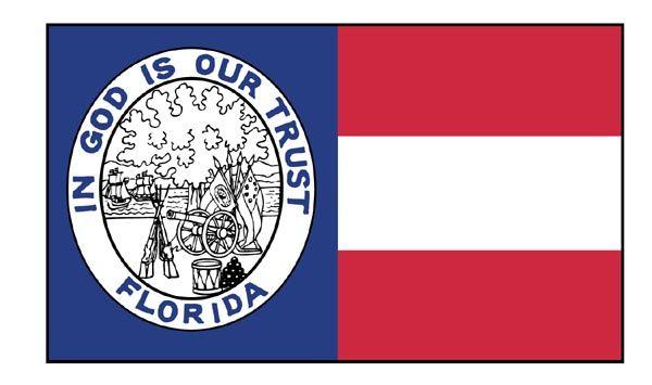 The Flag of Florida after Civil War