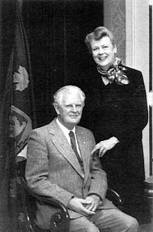 George Stanley (Sitting) with his wife