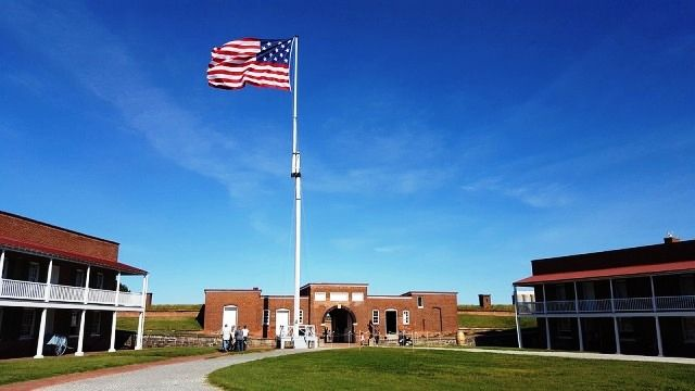 American Flag on Fort McHenry, Baltimore-compressed