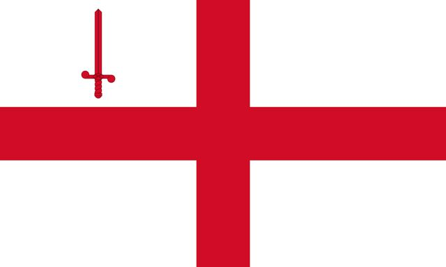 The Flag of the city of London