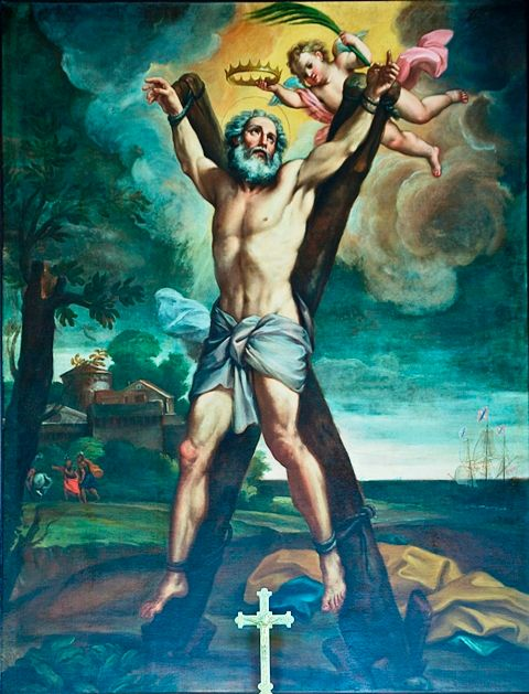 Painting depicting the Crucifixion Saint Andrew
