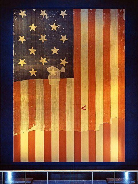 Star Spangled Banner Flag on display