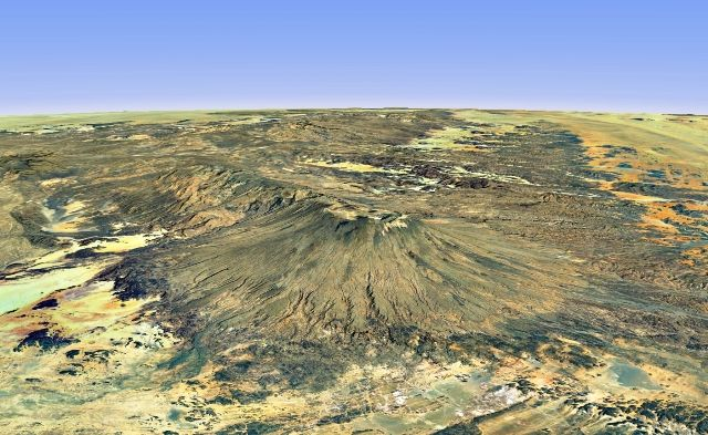 Emi Koussi is the highest point in the Sahara