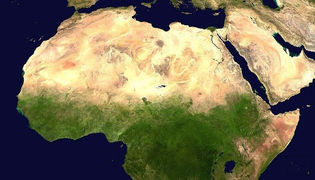 Satellite Image of Sahara Desert