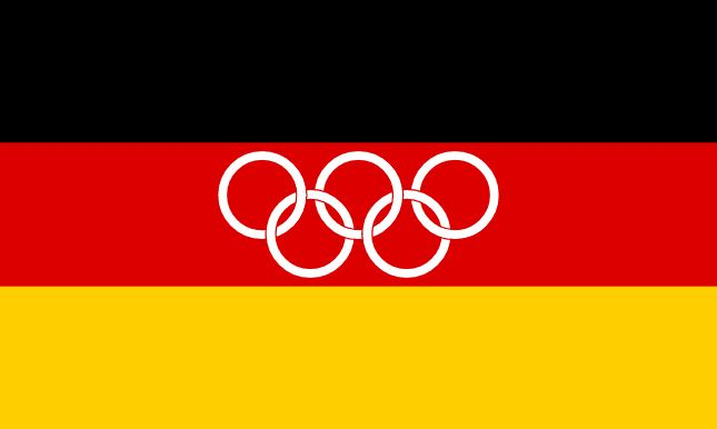 The flag of the Unified Team of Germany