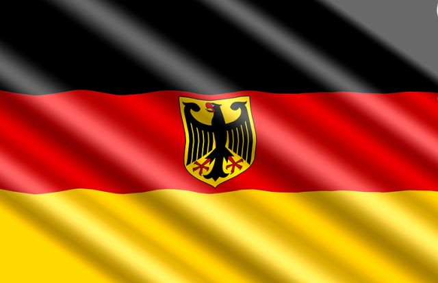 The flag of the state authorities in Germany