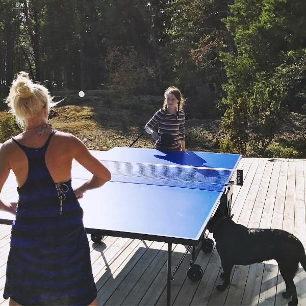 Greta Thunberg Playing Table Tennis With Her Mother