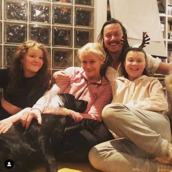 Greta Thunberg With Her Parents and Sister