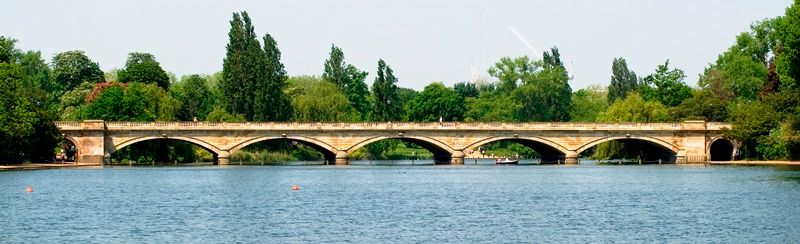 The Serpentine Lake and Bridge