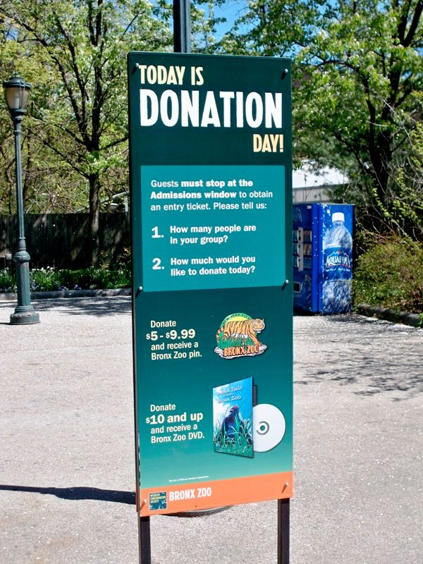 Bronx Zoo Donation Day