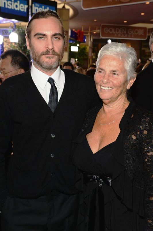 Joaquin Phoenix With His Mother Arlyn