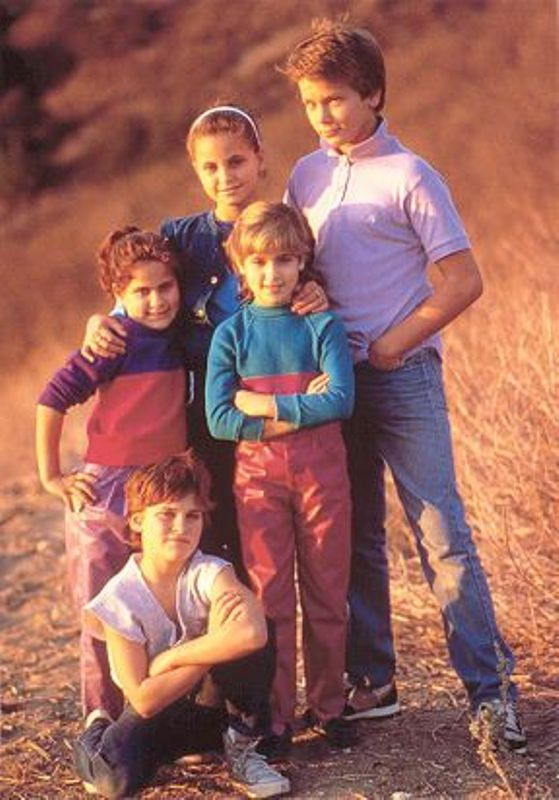 Joaquin Phoenix With His Siblings