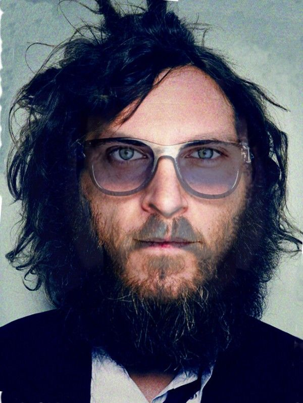 Joaquin Phoenix in Beard and Glasses