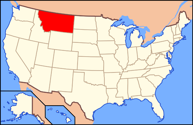 Montana On The US Map
